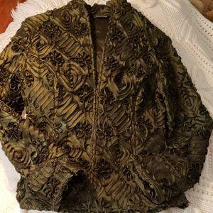 Samuel Dong emerald green jacket